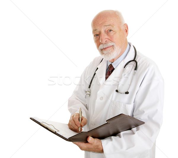 врач медицинской история дружественный изолированный Сток-фото © lisafx