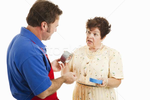 Sales Clerk Helps Customer Stock photo © lisafx