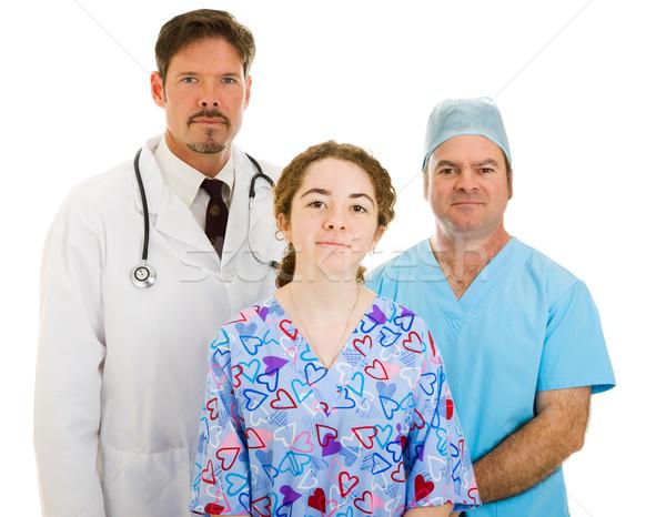 Zdjęcia stock: Poważny · medycznych · zespołu · lekarza · chirurg · pielęgniarki