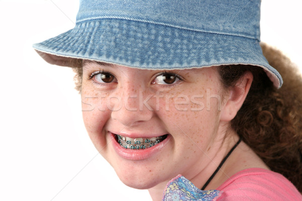 Cute Girl With Braces Stock photo © lisafx