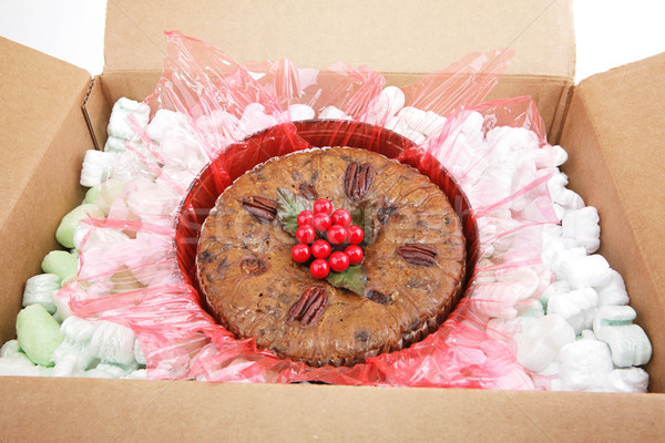 Mail Order Christmas Fruitcake Stock photo © lisafx