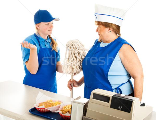 Tini menedzser felnőtt alkalmazott nő dolgozik Stock fotó © lisafx