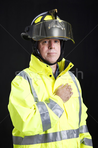 Firefighter - Hand on Heart Stock photo © lisafx