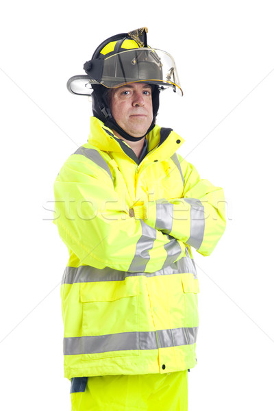 Portrait of Serious Firefighter Stock photo © lisafx