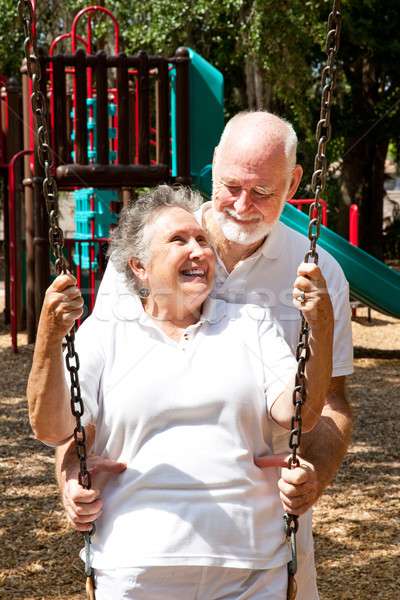 Senior Couple at Play Stock photo © lisafx