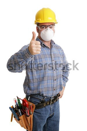 Construction Safety Thumbsup Stock photo © lisafx