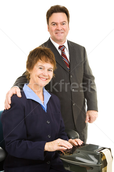 Court Reporter and Attorney Stock photo © lisafx