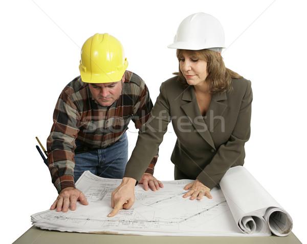 Foto d'archivio: Ingegnere · lavoro · femminile · progetti · costruzione