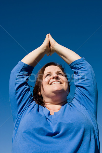 Plus Sized Fitness- Yoga Stock photo © lisafx