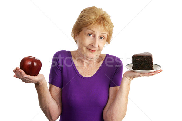 Twardy odżywianie dopasować starszy kobieta Zdjęcia stock © lisafx