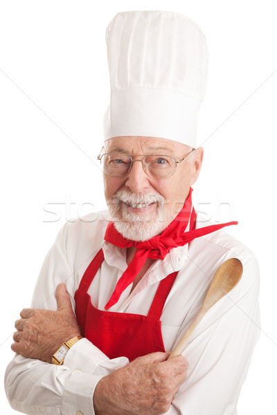 Handsome Chef - White Background  Stock photo © lisafx