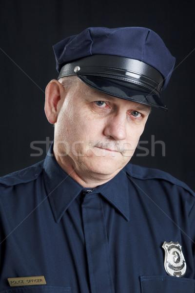полицейский слез печально слезу вниз лице Сток-фото © lisafx