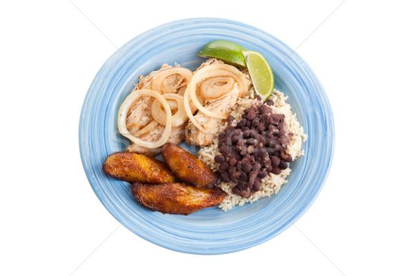 Traditioneel cubaans diner pad varkensvlees zwarte Stockfoto © lisafx