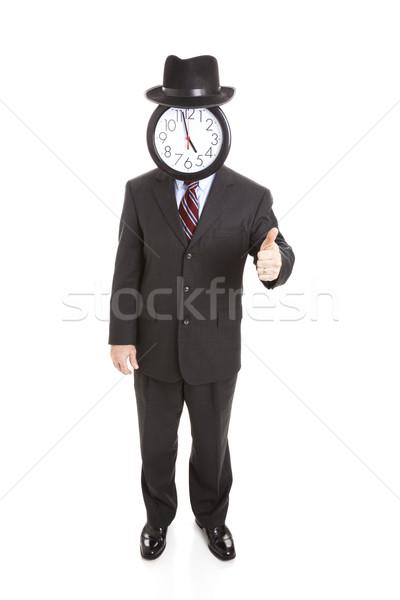 Faceless Businessman Full Body - Thumbsup Stock photo © lisafx