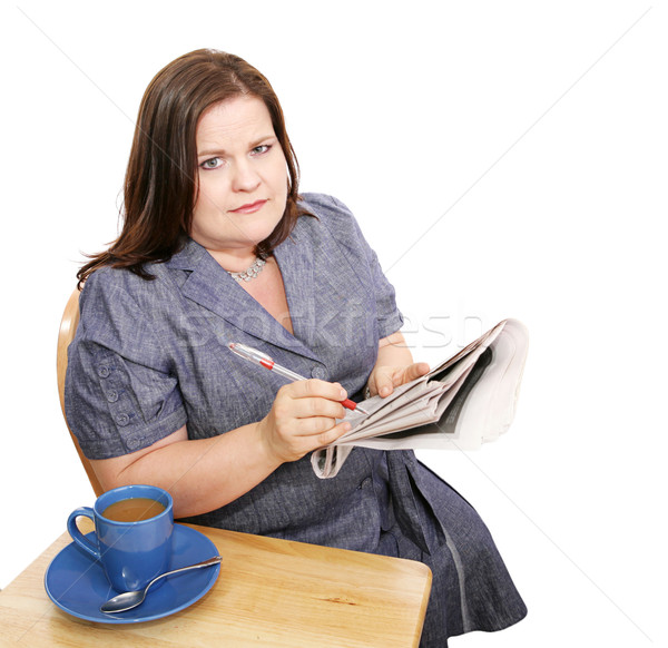 Businesswoman - Poor Job Market Stock photo © lisafx