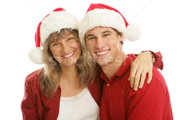 Christmas Together Mom and Son Stock photo © lisafx