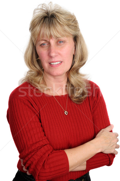 Concerned Blond Woman Stock photo © lisafx
