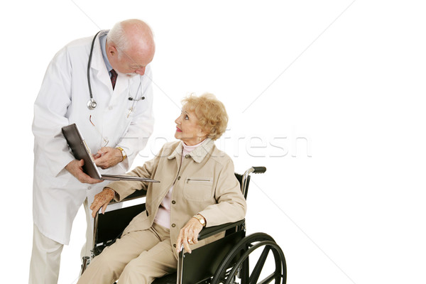 Doctor Patient Consultation Stock photo © lisafx