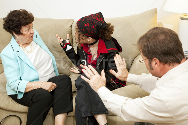 Family Counseling - Blame Mom Stock photo © lisafx