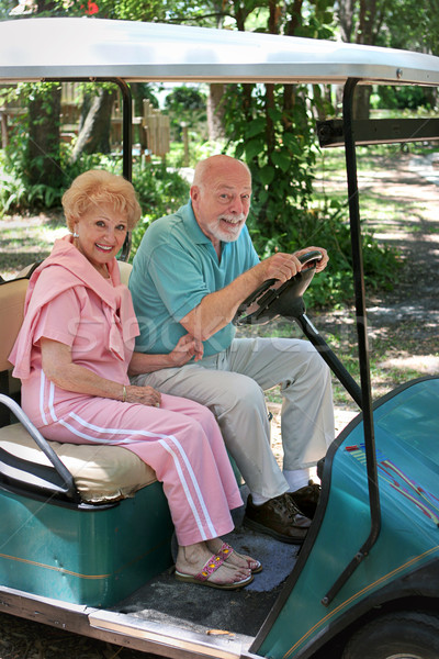 Golf Cart - Seniors Stock photo © lisafx