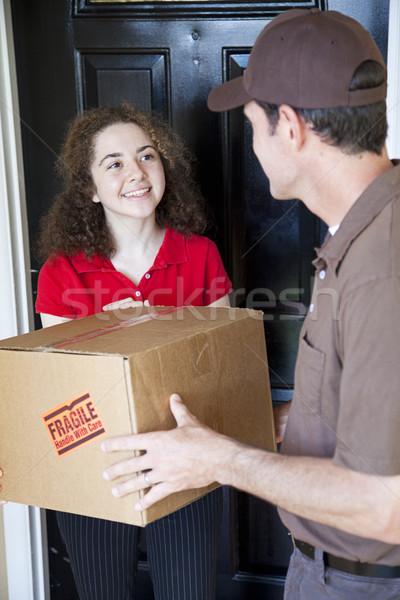женщину домой окна почты Сток-фото © lisafx
