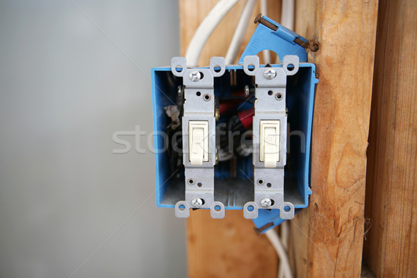 Two Gang Switch Box Stock photo © lisafx