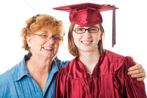 笑みを浮かべて 大学院 母親 高校 誇りに思う 白 ストックフォト © lisafx