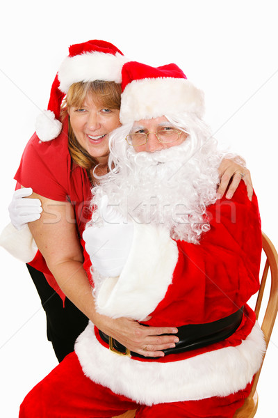 Santa and Mrs Claus in Love Stock photo © lisafx
