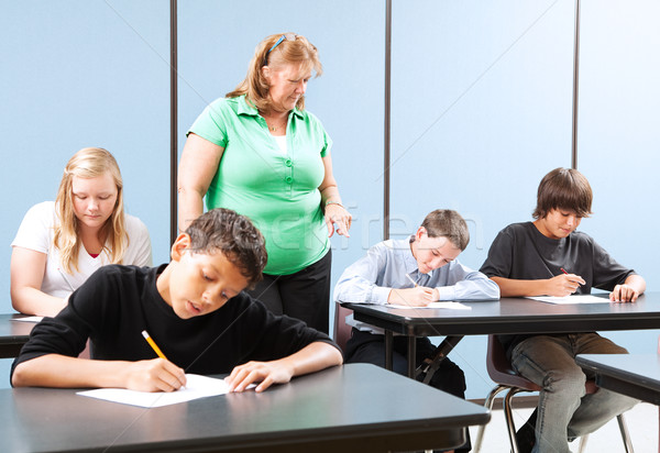 Supervised Testing in School Stock photo © lisafx