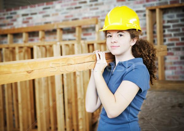 Jeunes Homme travailleur de la construction apprenti Photo stock © lisafx