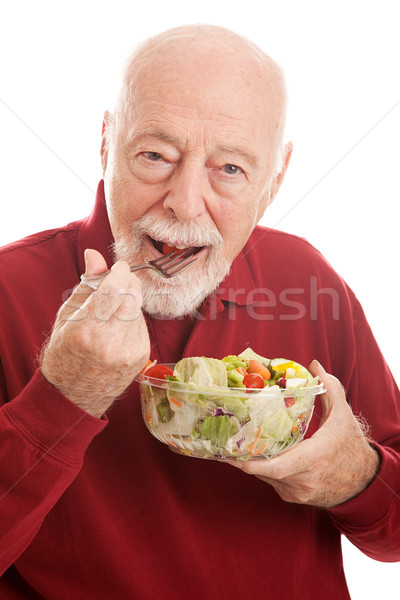 Healthy Salad For Fit Senior Stock photo © lisafx