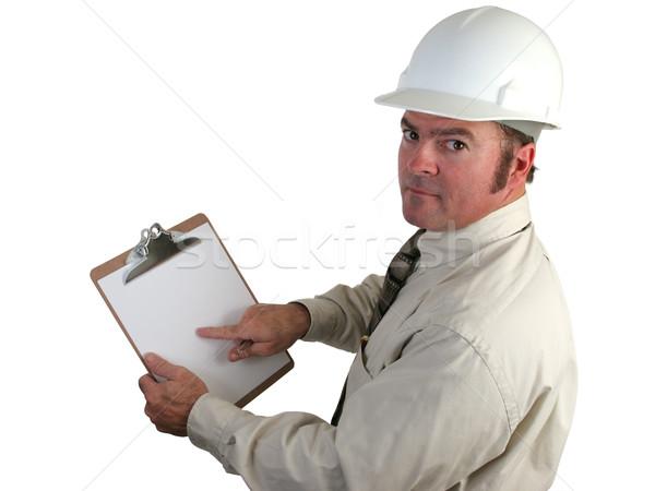 Costruzione supervisore punta preoccupazione relazione appunti Foto d'archivio © lisafx