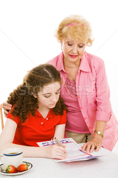 Grandma Helps Young Voter Stock photo © lisafx