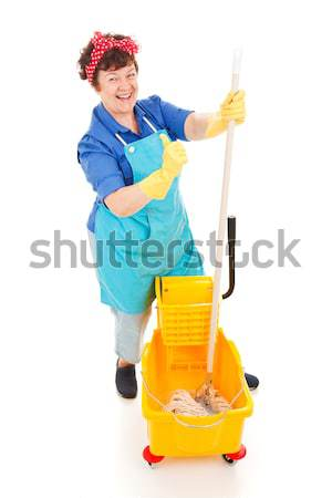 Maid with Positive Attitude Stock photo © lisafx