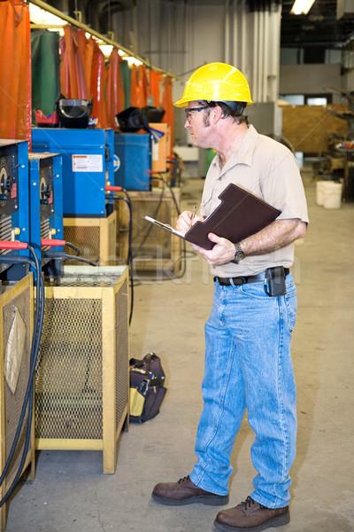 Sécurité vérifier soudage équipement métal Photo stock © lisafx