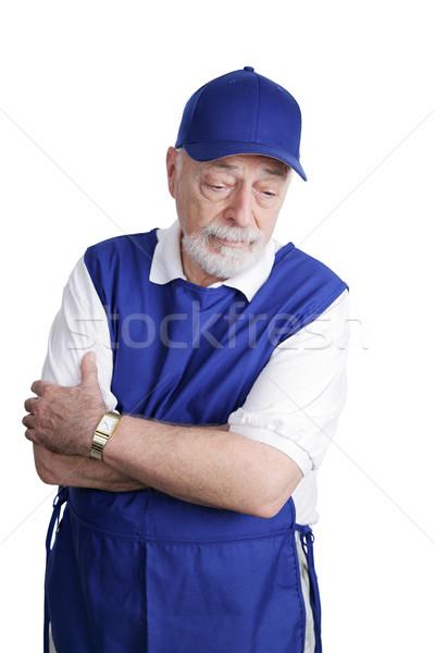 Senior Worker - Sad & Tired Stock photo © lisafx