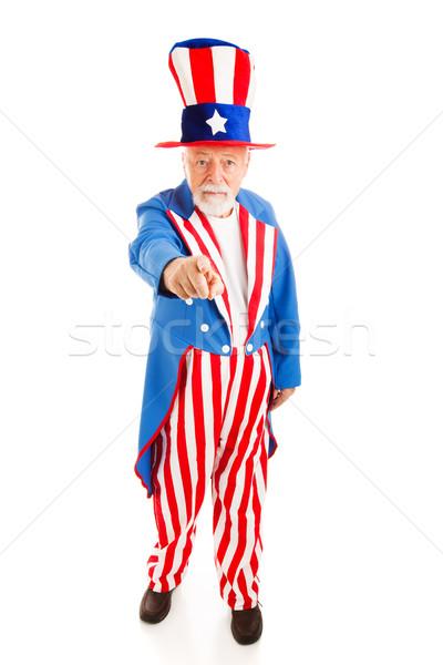 Amca yalıtılmış görmek amerikan ikon Stok fotoğraf © lisafx