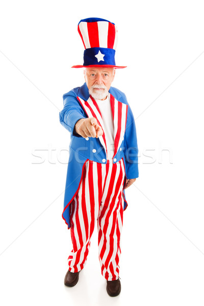 Tío aislado vista americano icono Foto stock © lisafx