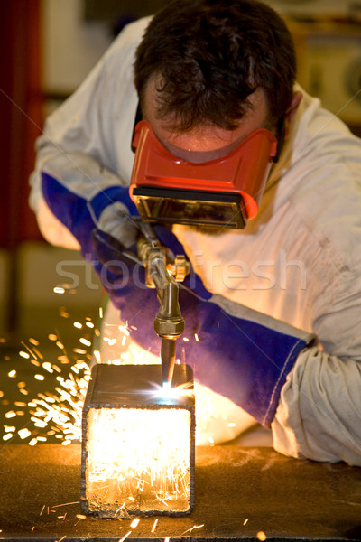 Welder Cutting with Flame Stock photo © lisafx