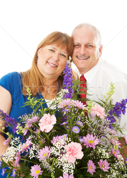 Wife Gets Flowers from Husband Stock photo © lisafx