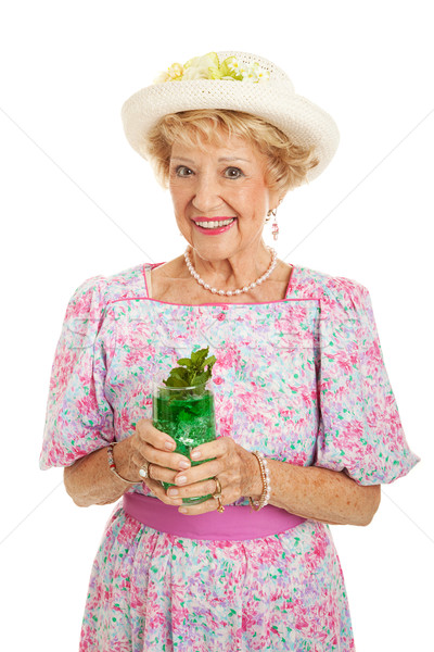 Southern Belle with Mint Julep Stock photo © lisafx