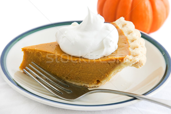 Holiday Pumpkin Pie Slice Stock photo © lisafx
