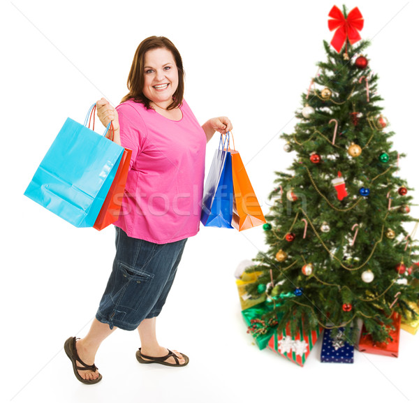 Christmas Bargain Shopper Stock photo © lisafx
