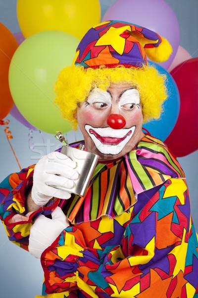 Bohóc cirkusz kicsi pia buli boldog Stock fotó © lisafx