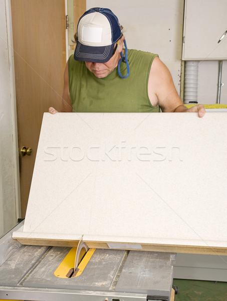 Charpentier table vu coupé contre haut Photo stock © lisafx