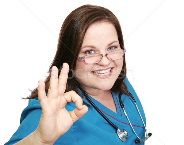Enthusiastic Nurse - AOkay Stock photo © lisafx