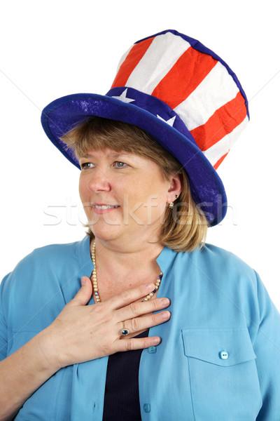Patriotic Military Wife Stock photo © lisafx