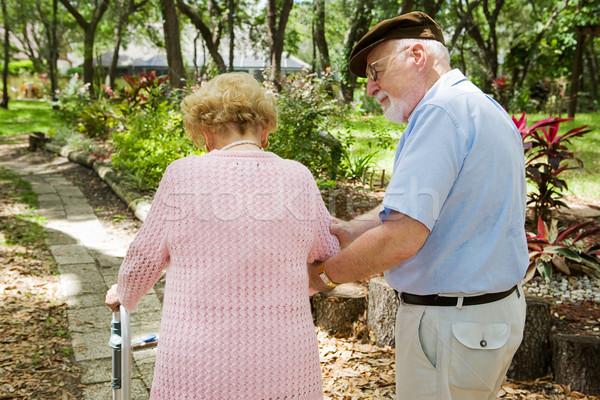 Senior uomo care disabili moglie Foto d'archivio © lisafx