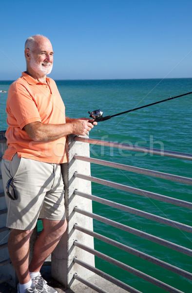 Senior Loves to Fish Stock photo © lisafx