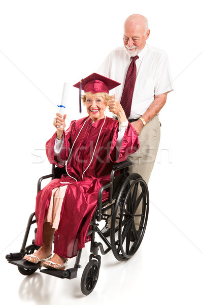 Disabled Senior Lady Graduates with Honors Stock photo © lisafx